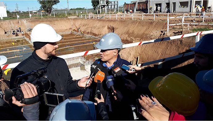 Aguas Santafesinas brindó detalles del avance de obra del Acueducto San Lorenzo
