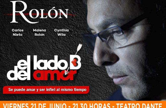 """Gabriel Rolón mostrará """"El lado B del amor"""" en el Dante"""