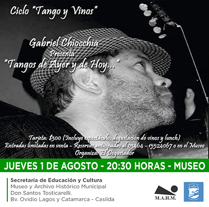 """Nuevo encuentro del ciclo """"Tango y Vinos"""" en el Museo"""