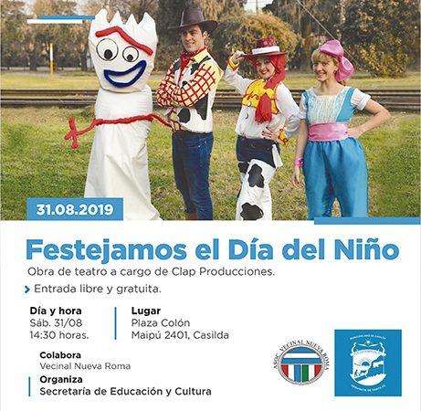 31 de Agosto: Teatro para celebrar el Día del Niño en Plaza Colón