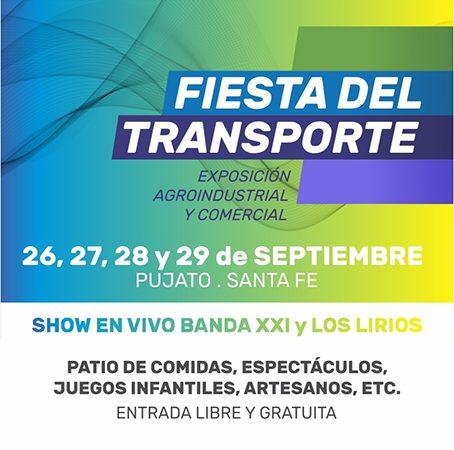 26, 27, 28 y 29/9: Pujato se prepara para vivir la gran Fiesta del Transporte.