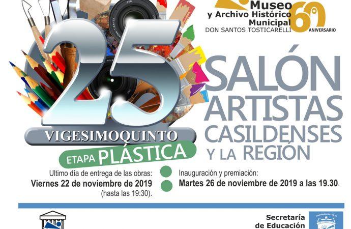 Abrió la inscripción al 25° Salón de Artistas Casildenses en Plástica