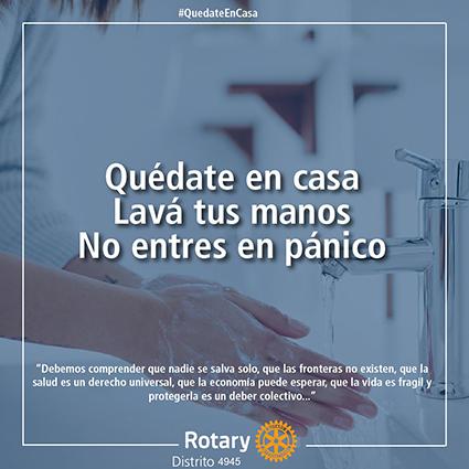 Rotary previene contra el Coronavirus
