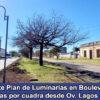 Importante Plan de Luminarias en Bv. Villada: 14 luminarias por cuadra desde Bv. Ov. Lagos a Bv. 9 de Julio